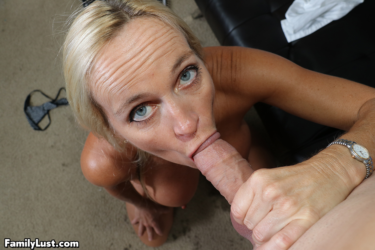 40 Something Cowgirls Porn dani dare swallows her step son's big dick and nut - family lust
