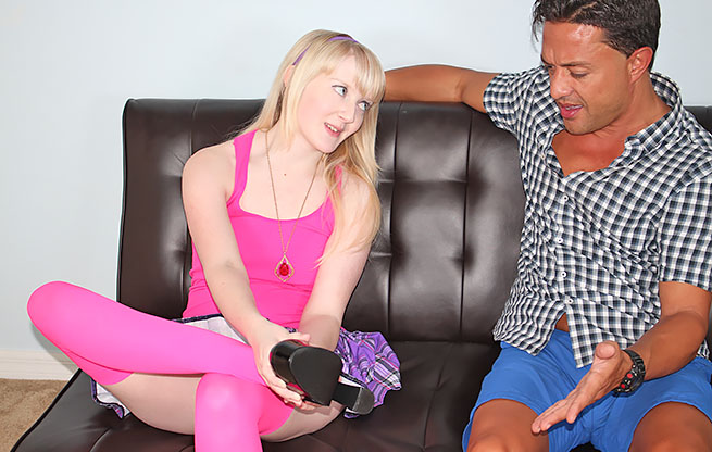 Krystal Orchid Controls Her Step Father